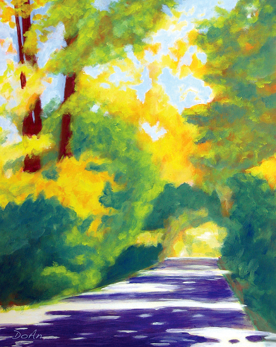Sun Dappled Road by Antony Galbraith